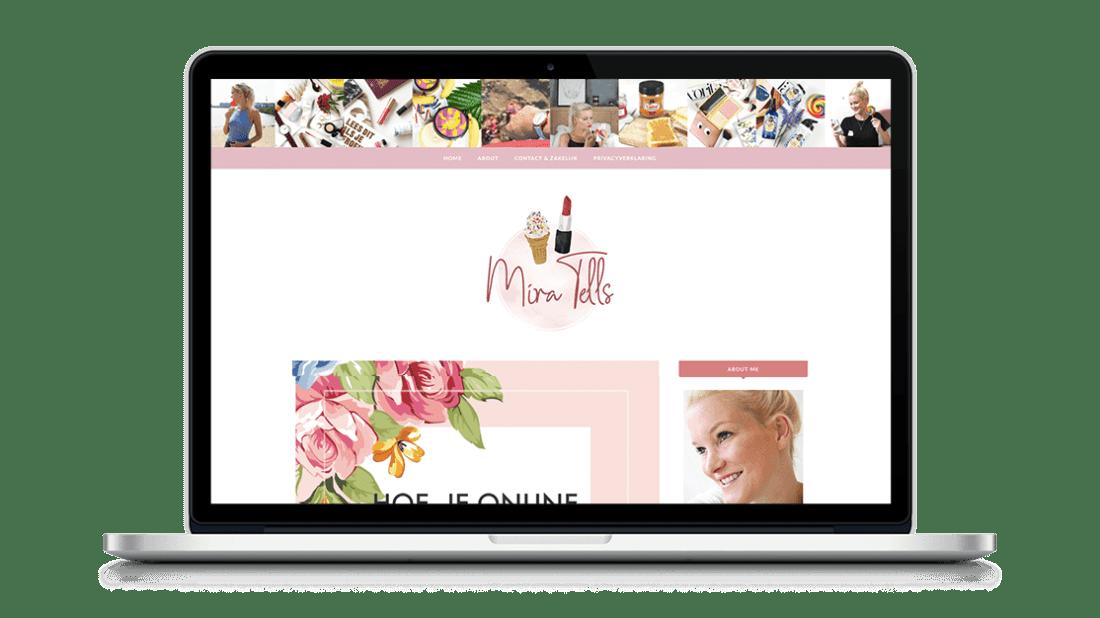 Website Mira Tells door Studio Solveig