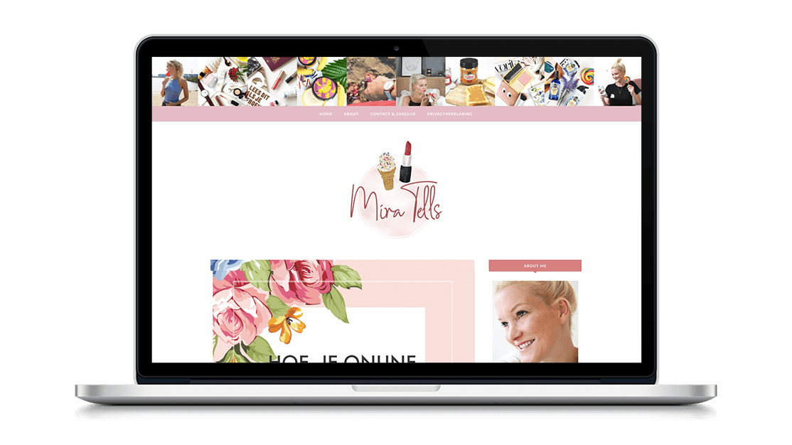 Website Mira Tells door Studio Solveig