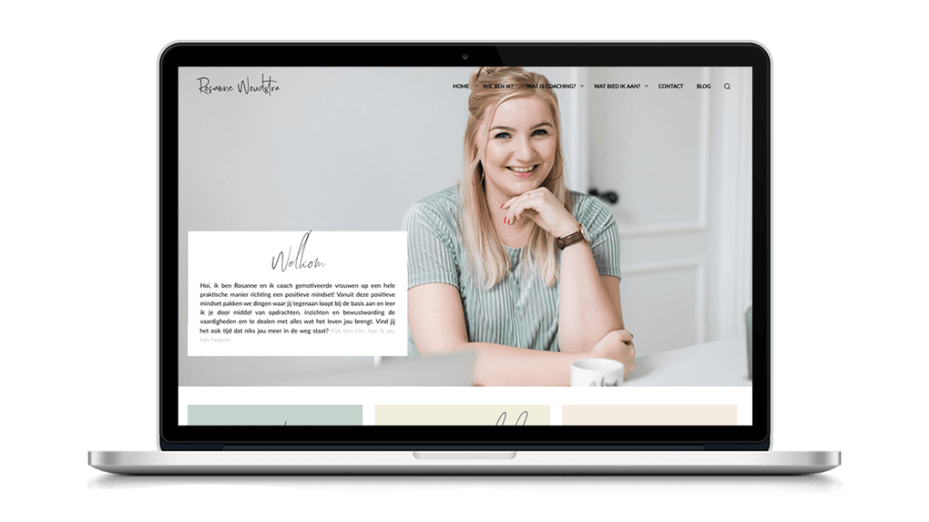 Website Rosanne Woudstra door Studio Solveig
