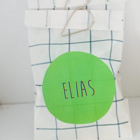 Doopsuikerzakje pergamijn Elias