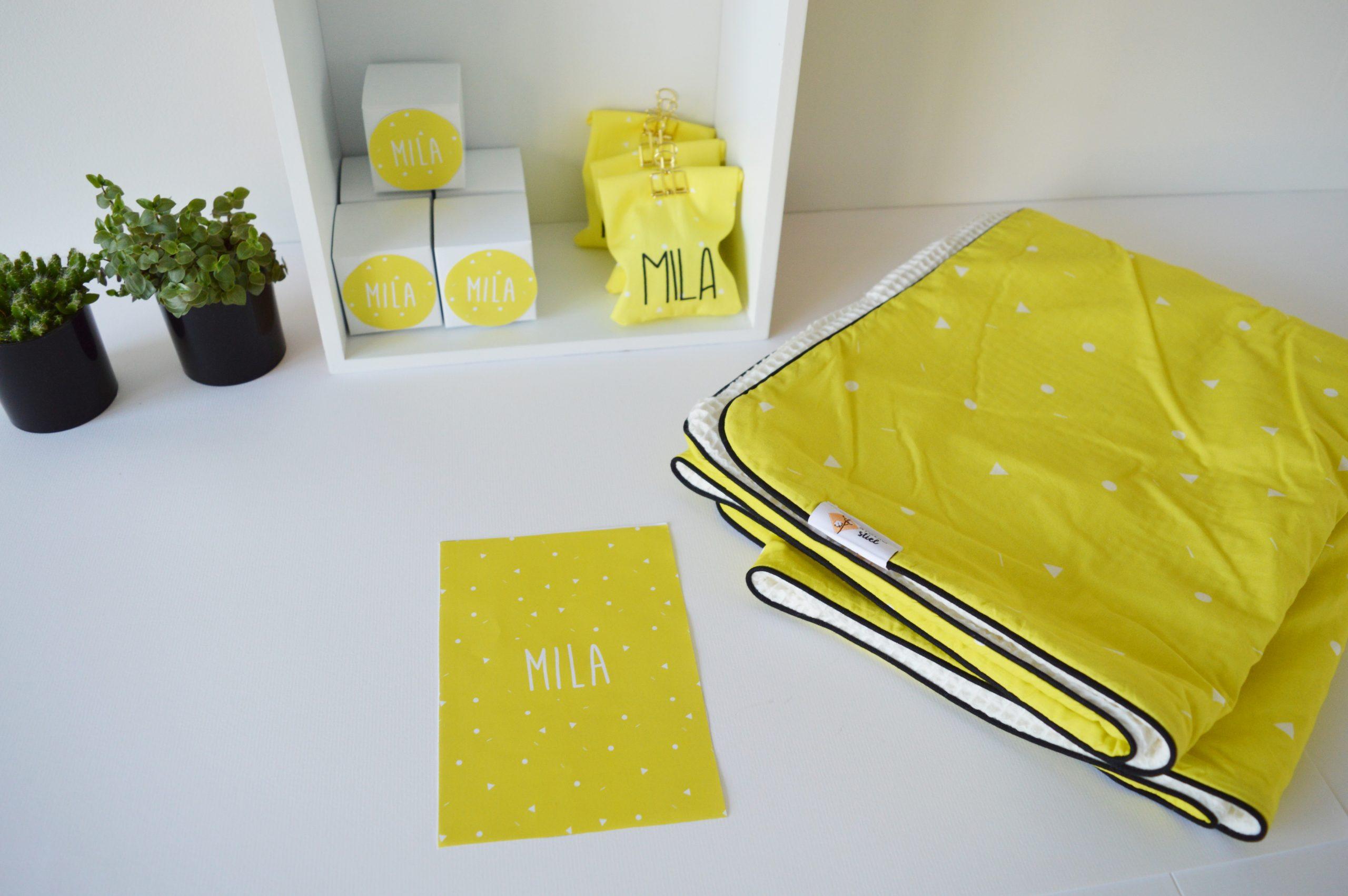 Doopsuiker dekentje en kaartje Mila