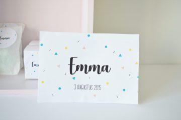 Geboortekaartje op maat Emma
