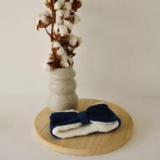 haarband blauw ribfluweel