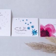 rouwkaart set van 3