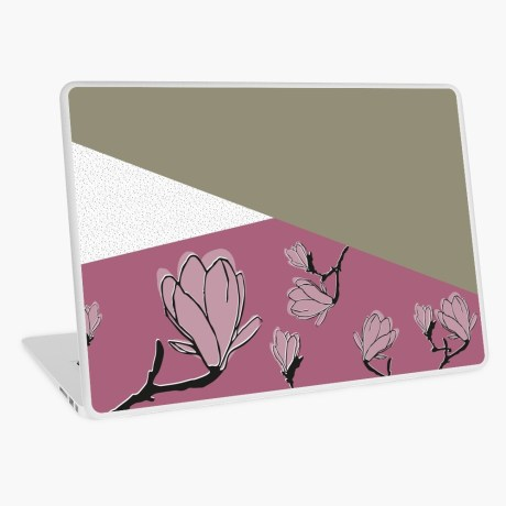 laptop sticker magnolia