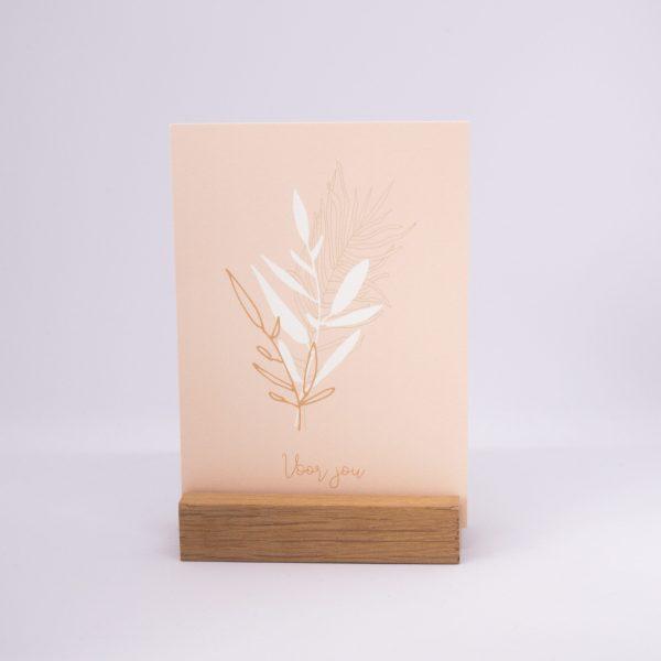 houten kaarthouder met kaart