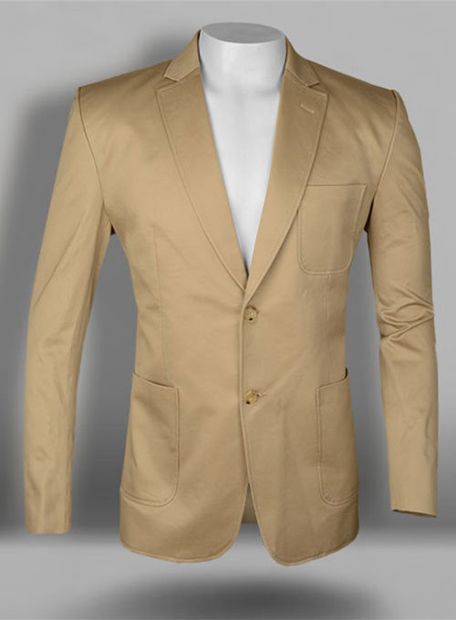 Heavy Khaki Chino Jacket  StudioSuits Made To Measure