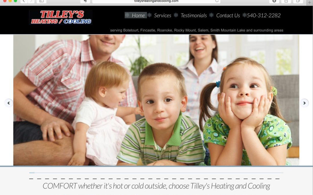 Tilley's Heating and Cooling – web development