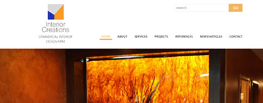 Interior Creations Website Design