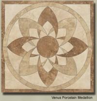 Ceramic Floor Medallions, Water Jet Cut Medallions