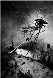llustration by Alvim Corréa, from the 1906 French edition of H.G. Wells' War of the Worlds.
