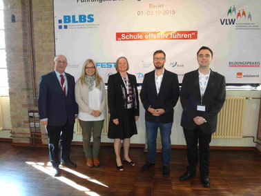 v. l. Dr. Ernst G. John, Linda Nauroth, Dr. Angelika Rehm, Patrick Geiser, Thorben Teyke