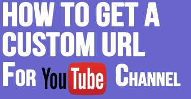 Custome url for youtube channel