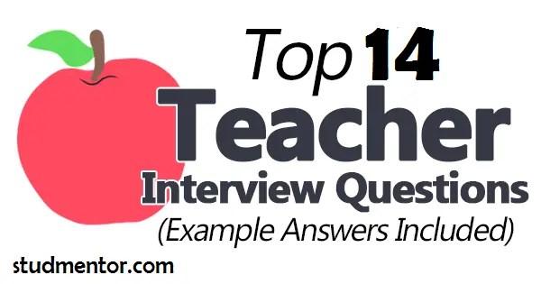 Teacher Interview questions on Stud mentor