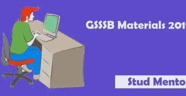 GSSSB Materials