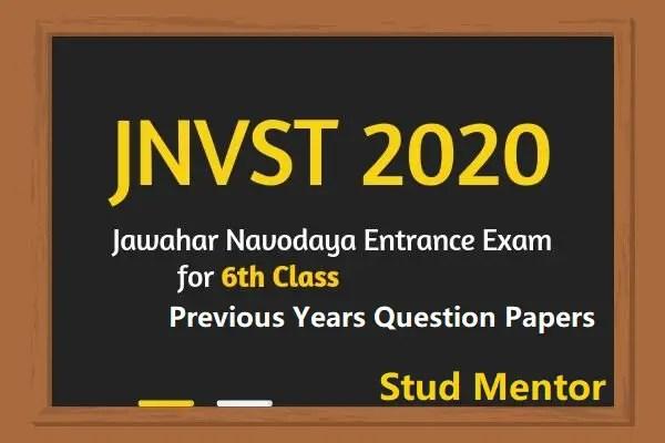 JNVST 2020 Exam Materials