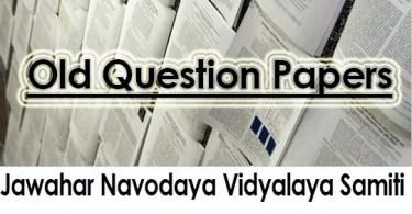 Navodaya Class VI IX Question Papers