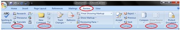 Review Tab