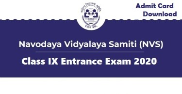 Class-IX-Lateral-Entry-Admit Card-Navodaya-Stud-Mentor