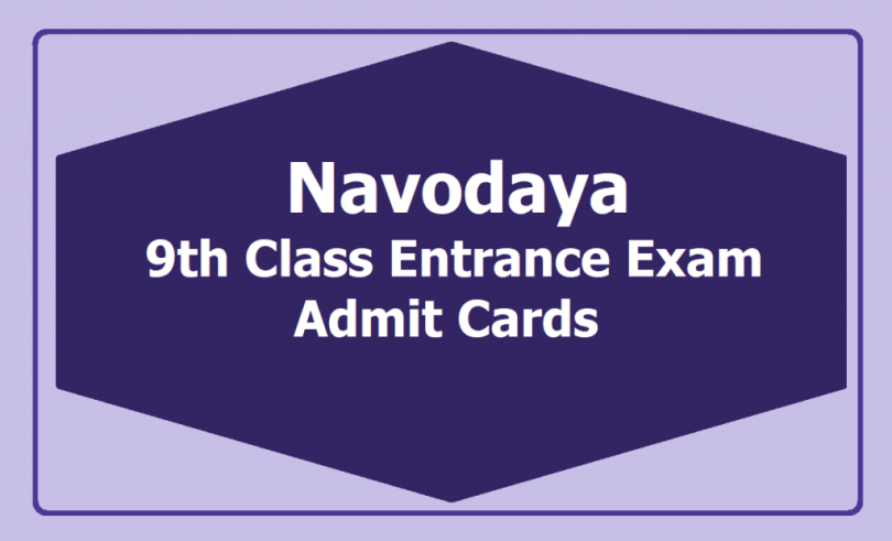 Navodaya-9th-Class-Entrance-Exam-Admit-Cards-Lateral-Entry