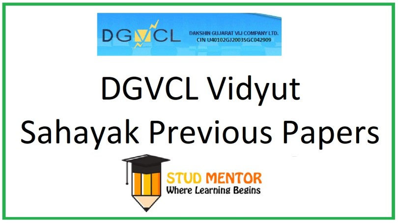 DGVCL Vidyut Sahayak (Junior Assistant) Previous Year Question Papers