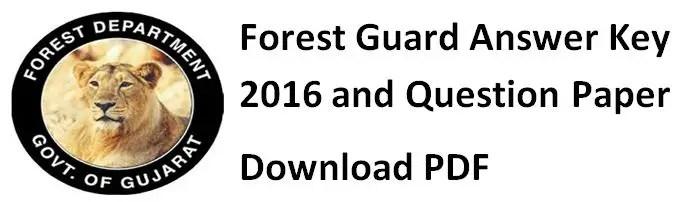 Forest Guard Vanrakshak Paper with Answer Key