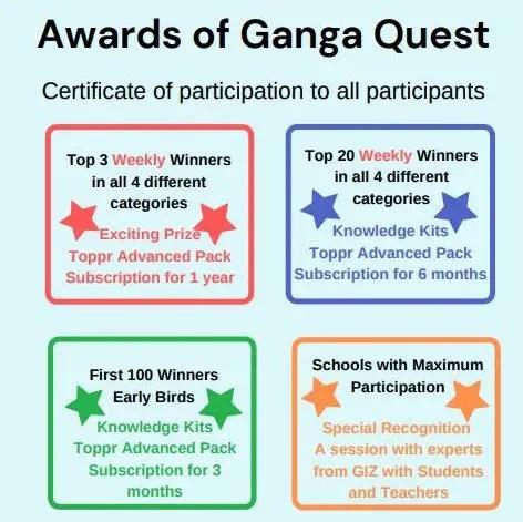 Awards of Ganga Quest 2021