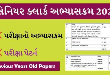 GSSSB Senior Head Clerk Previous year Old papers Syllabus 2021