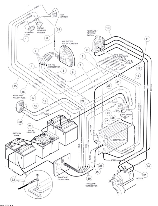 melex volt golf cart wiring diagram wiring diagrams melex wiring schematic schematics and diagrams