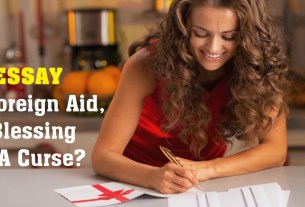 A Foreign Aid – A Blessing Or A Curse