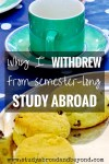 Withdrew Study Abroad