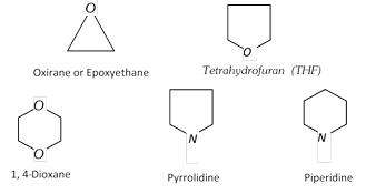Alicyclic heterocyclic compounds : Heterocyclic compounds