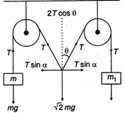 The pulleys and strings shown in figure are smooth and of