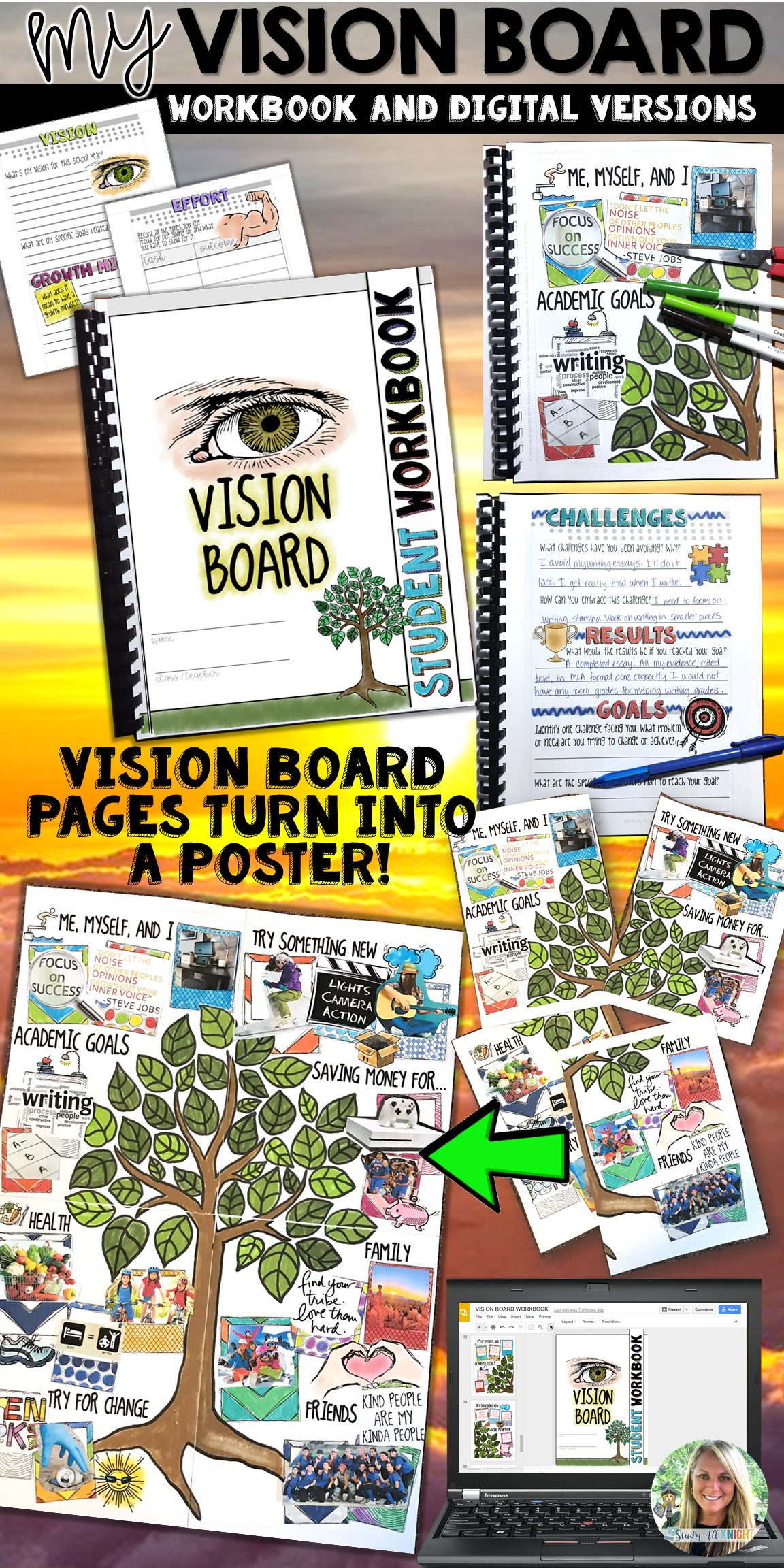 Vision Board Student Workbook Goal Setting It S Also A