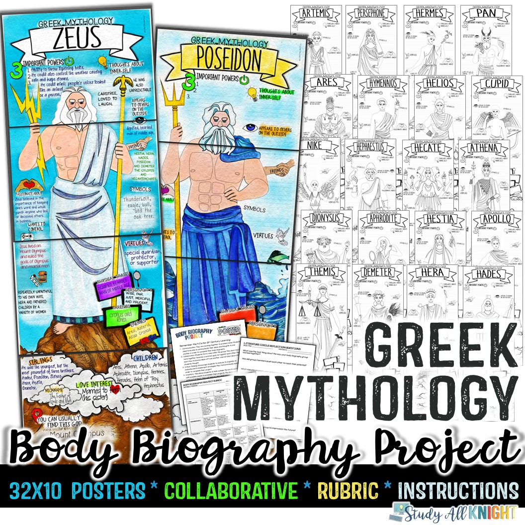 hight resolution of Greek Gods