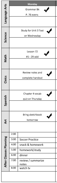Time Management Tips Schedule