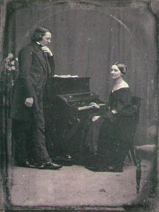 Robert Schumann con Clara Wiek