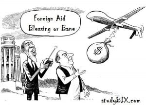 Foreign Aid, blessing or bane. Complete Essay with Outline