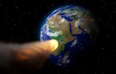 Asteroid targeting Earth