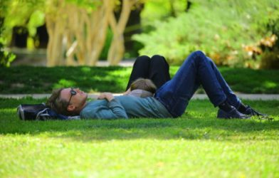 Man sleeping on the grass