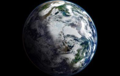 Earth view from outer space