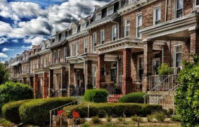 Row homes in Washington, DC