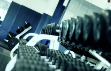 Weight rack at gym