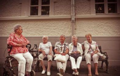 Group of elderly women