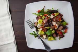Healthy salad on plate