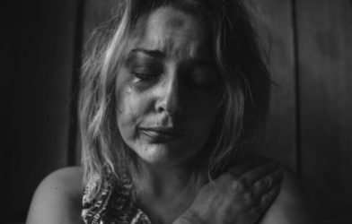 Woman crying, depressed