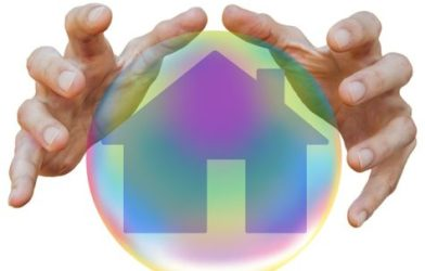 Crystal ball with house inside