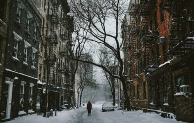 Snow-covered street