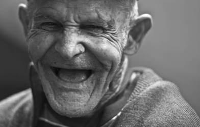 Happy older man