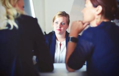 Woman in meeting